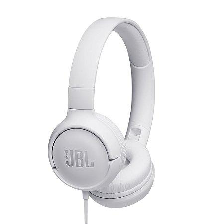 Fone de ouvido JBL TUNE 500 Branco Pure Bass Sound