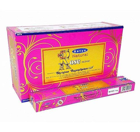 Incenso Massala Satya Natural Rose 12 Caixas