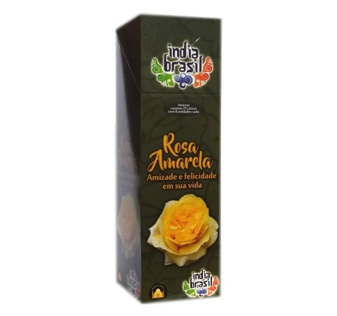 Incenso Premium ROSA AMARELA Kit 5 Caixas Fechadas 1000 Varetas
