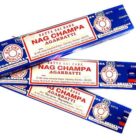 Incenso Nag Champa Massala Satya Sai Baba 10 Caixas Original