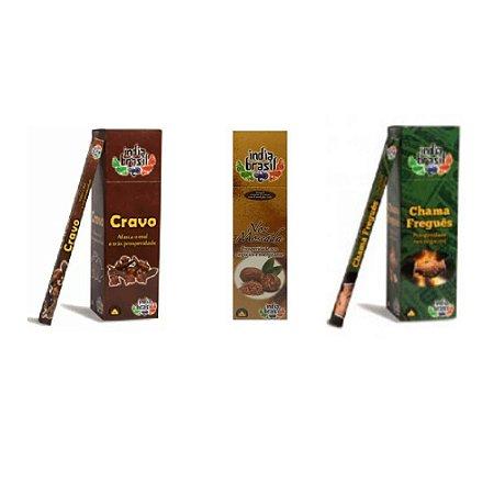 Super Kit de Incensos Comerciante e Varejista Com 600 Varetas + Bônus Incensário Bambu