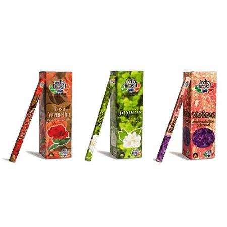 Super Kit de Incensos Atrai Amor Com 600 Varetas + Bônus Incensário Bambu