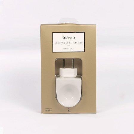 Aromatizador Elétrico Porcelana Difusor Ambiente Via Aroma - Bivolt + Essência 10ml