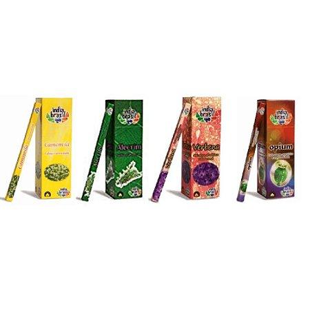 Kit De Incensos Relaxante Com 25 Caixinhas Sortidas (200 Incensos)