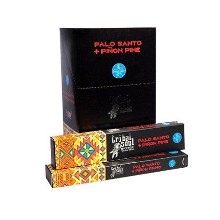 Incenso Massala Tribal Soul Palo Santo + Piñon Pine 1 Caixa com 9 Varetas