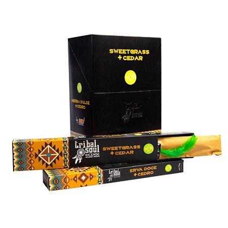 Incenso Massala Tribal Soul Sweetgrass + Cedar 1 Caixa com 9 Varetas