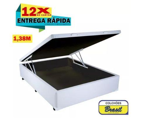 Cama Box Baú Pistão Casal 138x188x46