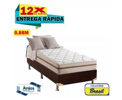Conjunto Anjos Classic Ensacada 0,88c (colchão + Cama Box)