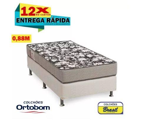 Conjunto Ortobom Ultra Resistente D26(cama Box+colchão)88x62