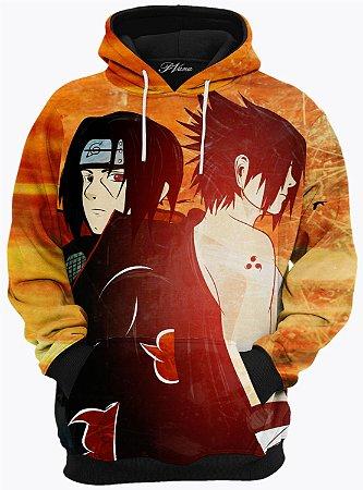 Blusa de Frio Moletom Itachi e Sasuke