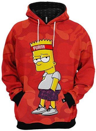 Blusa de Frio Moletom Bart Simpson