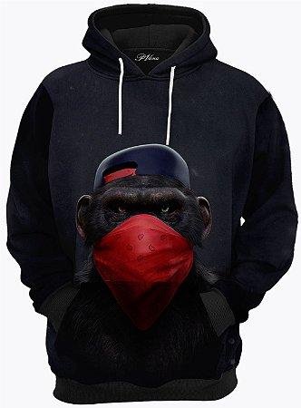 Blusa de Frio Moletom Macaco Rap
