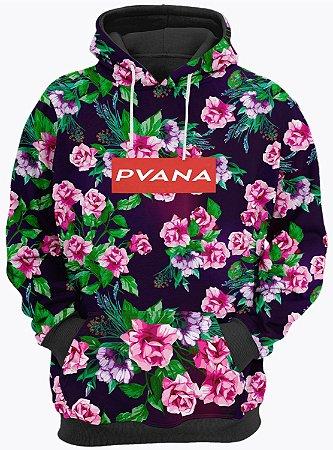 Blusa de Frio Moletom Pvana Floral