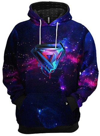 Blusa de Frio Moletom Liga da Justiça Superman Galáxia