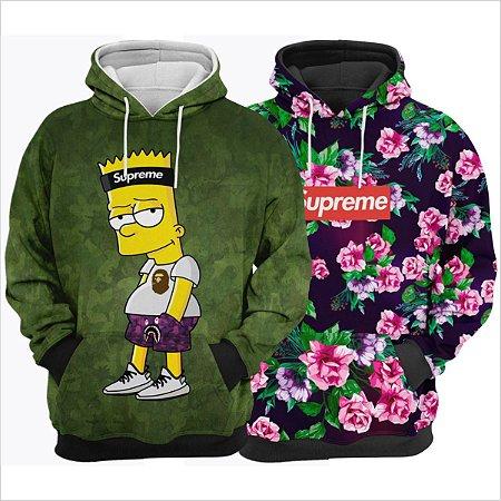 Kit 2 Blusas de Frio Supreme Destaque Simpsons