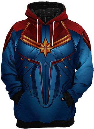 Blusa de Frio Moletom Capitã Marvel Nova Roupa