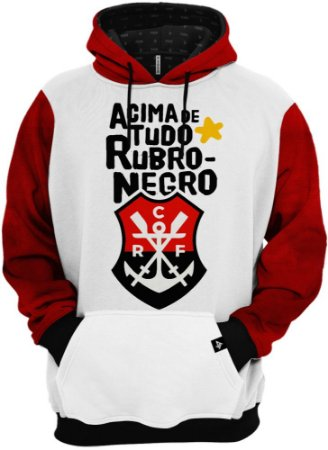 Blusa de Frio Moletom Regatas do Flamengo Acima De Tudo Rubro Negro
