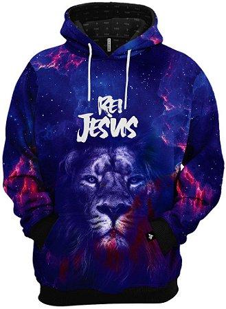 Blusa de Frio Moletom Leão Rei Jesus
