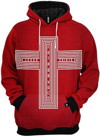Blusa de Frio Moletom Jesus Morreu Por Você