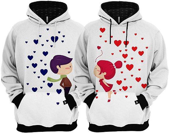 KIT 2 Blusas de Frio Moletom Amor no AR