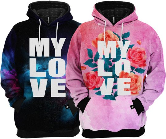 KIT 2 Blusas de Frio Moletom My Love