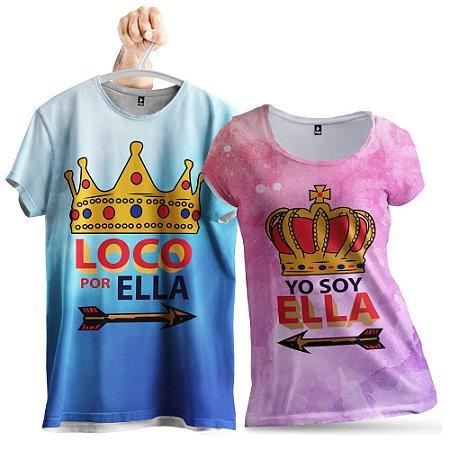 KIT 2 Camisetas Locos Um Pelo Outro