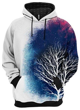 Blusa De Frio Moletom Árvore Galáxia