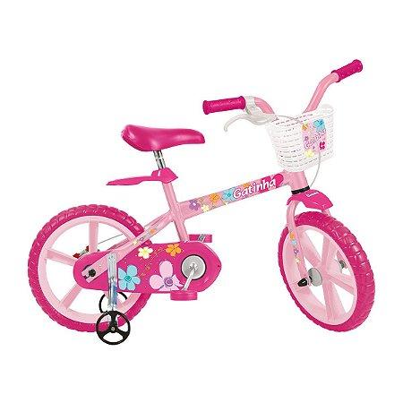 f22b1dfea Bicicleta Infantil Aro 14 Bandeirante Gatinha - Modas Paula Baby