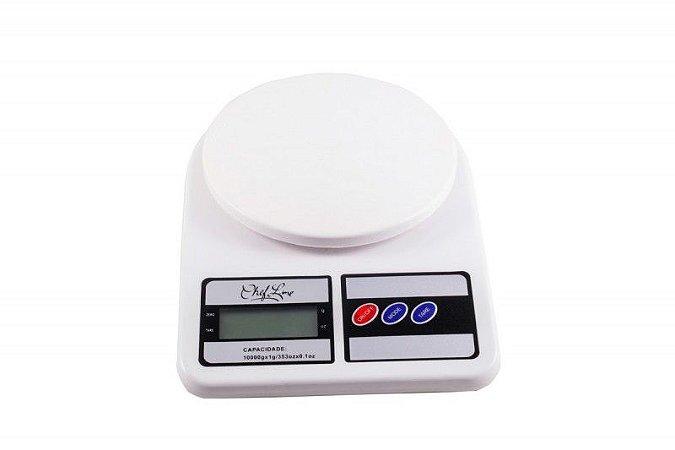 Balança Portatil Digital Branca - 10 kg