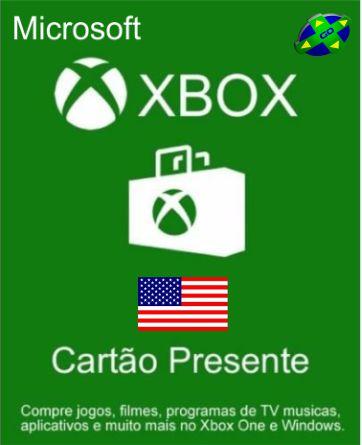 CARTÃO XBOX LIVE USA - 25 DÍGITOS