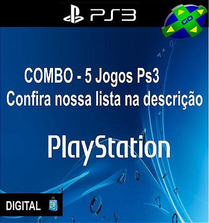 COMBO 5 JOGOS DE PS3