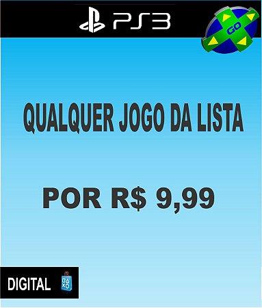 QUALQUER JOGO DA LISTA POR R$9,99