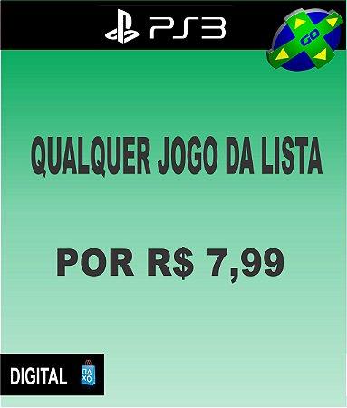 QUALQUER JOGO DA LISTA POR R$7,99