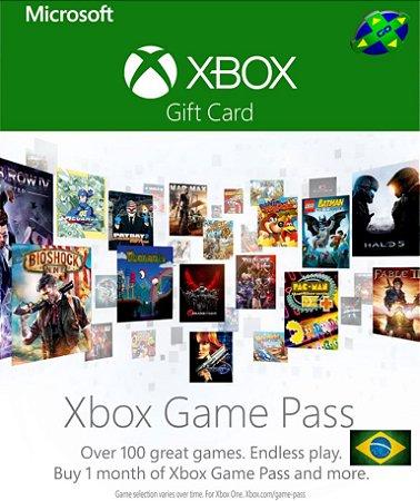 CARTÃO XBOX GAME PASS
