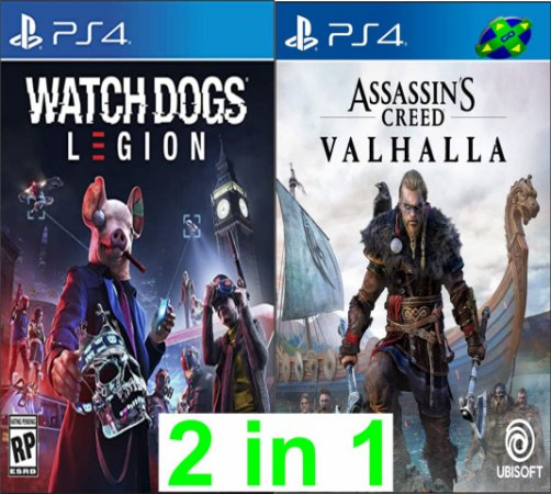 Watch Dogs Legion + Assassins Creed Valhalla - PS4