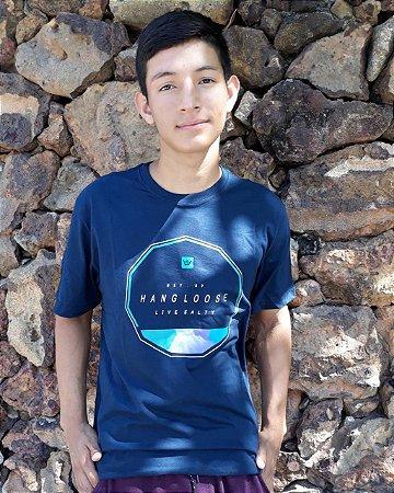 309cff6da4 Camiseta Hang Loose Azul Marinho - Trilha Surfwear