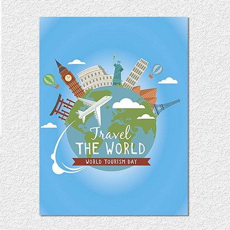 Placa Tourism Day Azul