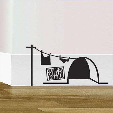 adesivo de parede rodapé rato vende-se