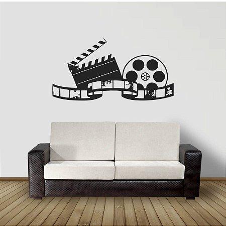 adesivo parede claquete cinema