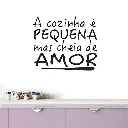 adesivo de parede cozinha cheia de amor