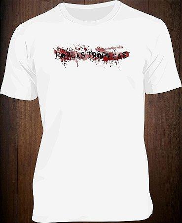 Camiseta Old Style Hordas Trôpegas Branca