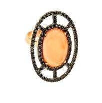 Anel Oval Pedra *Semi Jóia