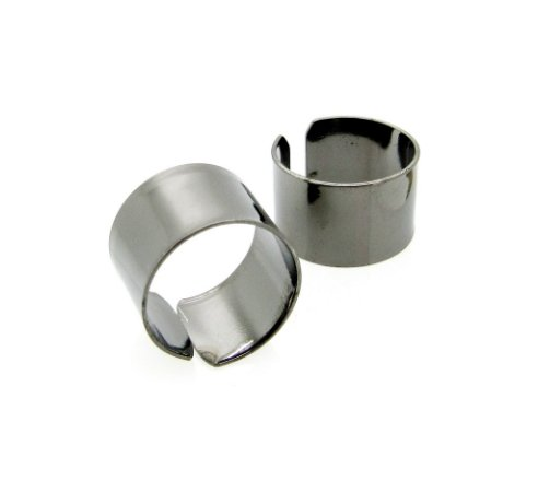 Anéis Inspired Duplo Ródio Negro *Bijux