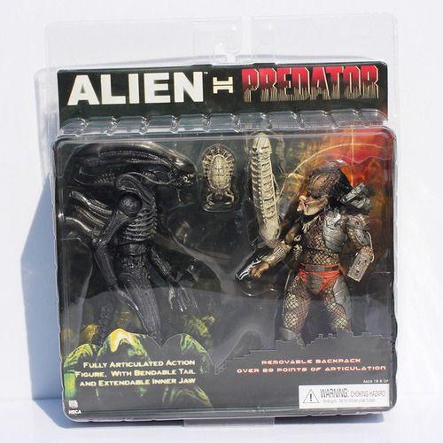 Action Figure Alien vs Predator Pack 20cm Articulados