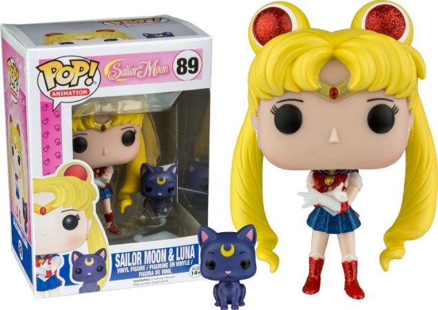 Funko Pop Sailor Moon e Luna Glitter Exclusiva #89