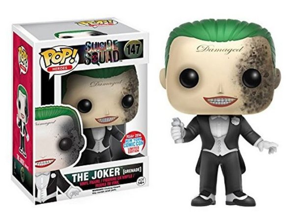Funko Pop DC Suicide Squad The Joker Grenade Exclusivo NYCC 16 #147