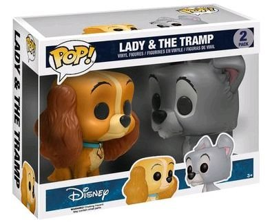 Funko Pop Disney A Dama e o Vagabundo Lady And Tramp 2-Pack
