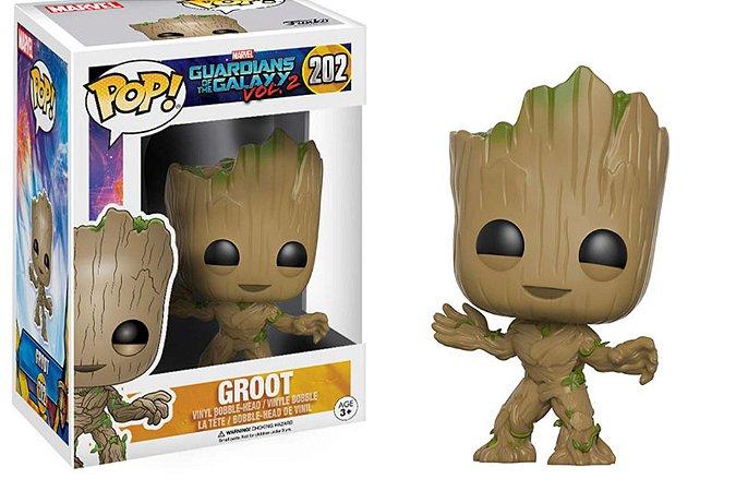 Funko Pop Marvel Guardiões da Galáxia Vol 2 Groot #202