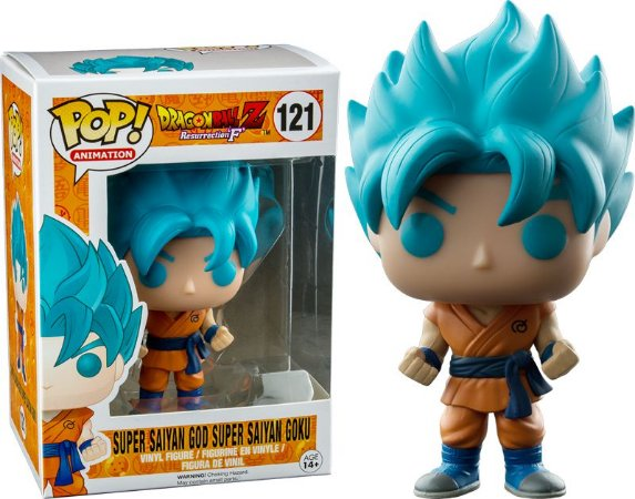 Funko Pop Dragonball Z Super Saiyan Goku Blue Hair Exclusivo #121