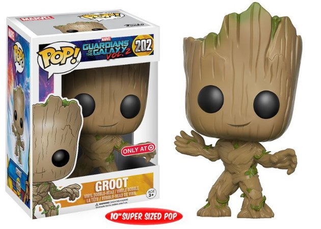 Funko Pop Guardiões da Galaxia Groot Super Size Exclusivo Target #202